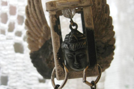 Buddha Vintage key necklace