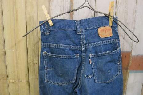childrens Big E Levis Denim vintage jeans  kids 60s blue cotton pants