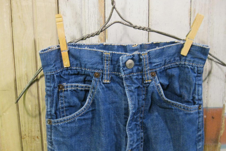Big E Levis Denim vintage jeans  kids 60s childrens blue cotton pants