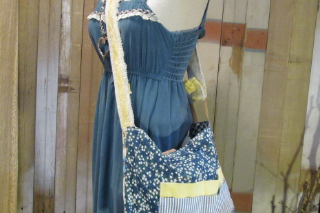 Lace purse road trip tote weekender Handmade ooak messenger bag