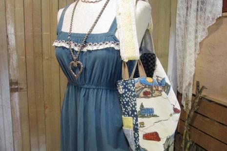 weekender Handmade ooak messenger bag