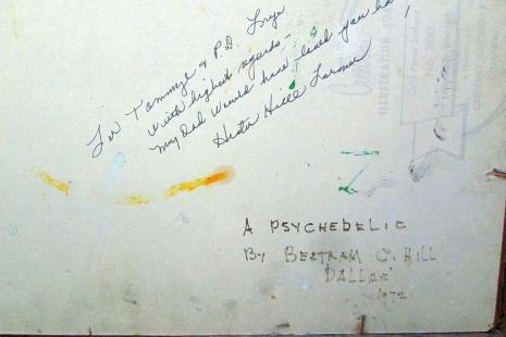 art painting Bertram C Hill vintage 70s