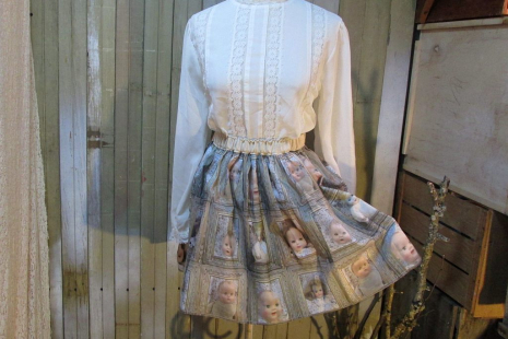 Creepy mini skirt of vintage babydolls