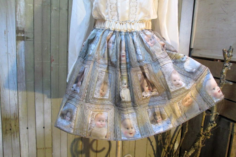 Cute mini skirt of vintage babydolls