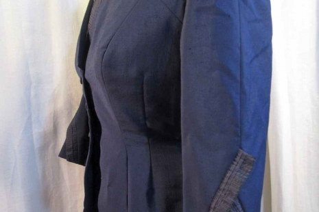 50s Navy Suit Jacket Navy silk