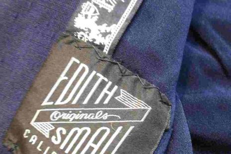 50s Navy Suit Jacket Navy silk