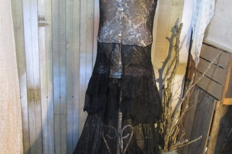 Lovely Black Lace vintage 1930s Dress