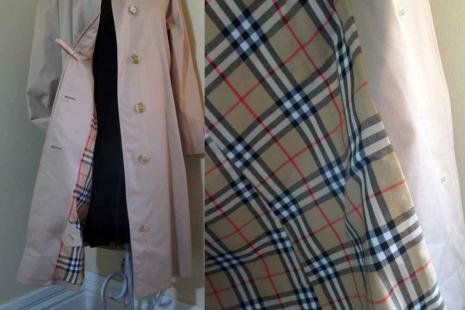 Burberry balmacaan Vintage Burberry Coat Nova check lining