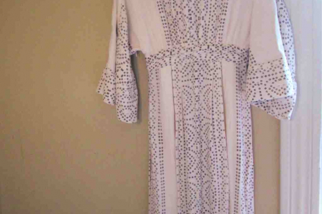 Free People Cream print hippie boho caftan