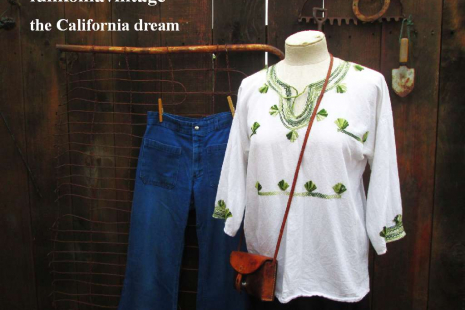White Mexican 70s vintage Blouse Green embroidery