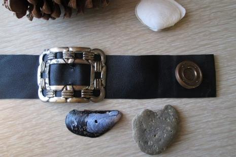 Black Cuff bracelet 30s Buckle