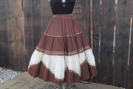 Desert Copper Vintage Circle Skirt metallic 50s
