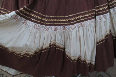 Southwest patio style full skirt