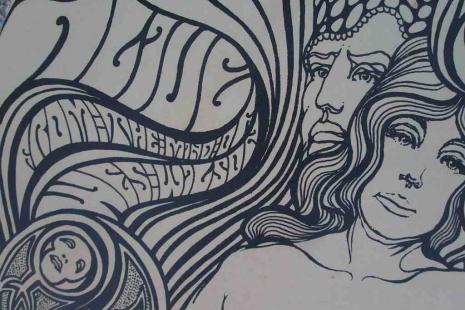 Grateful Dead 60s Wes Wilson Fillmore San Francisco Poster