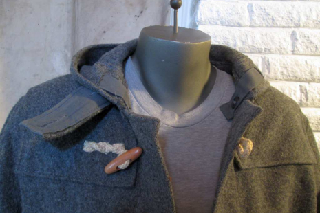 Schott Duffle Coat Melton wool  Hemp and Wood toggles and buttons USA