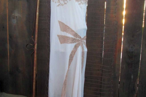 Vintage Peach Silk 30s Nightgown Asymmetrical hem