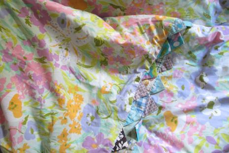 Pink Calico Vintage Quilt Pastels