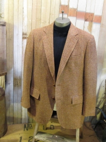 Vintage Harris Tweed Jacket Herringbone brown fleck wool  coat