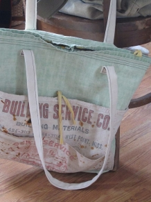 Waxed canvas Tote Vintage Market