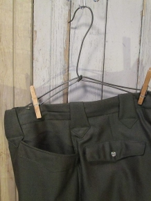 H Bar C 60s Olive Green Vintage Sharkskin Slacks