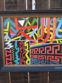 Signed Acrylic psychedelic art Painting BC Hill Dallas