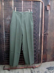 50s Vintage Army Military Wool Pants