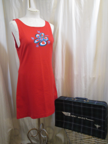 Stephen Sprouse 2002 graffiti Blue Flower Red stretch Dress Target