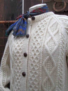 Irish Aran Cardigan Sweater Vintage funkomavintage