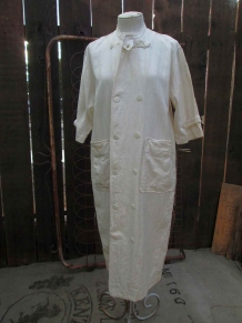 Vintage Matsuda Dress Ivory Cotton by funkomavintage