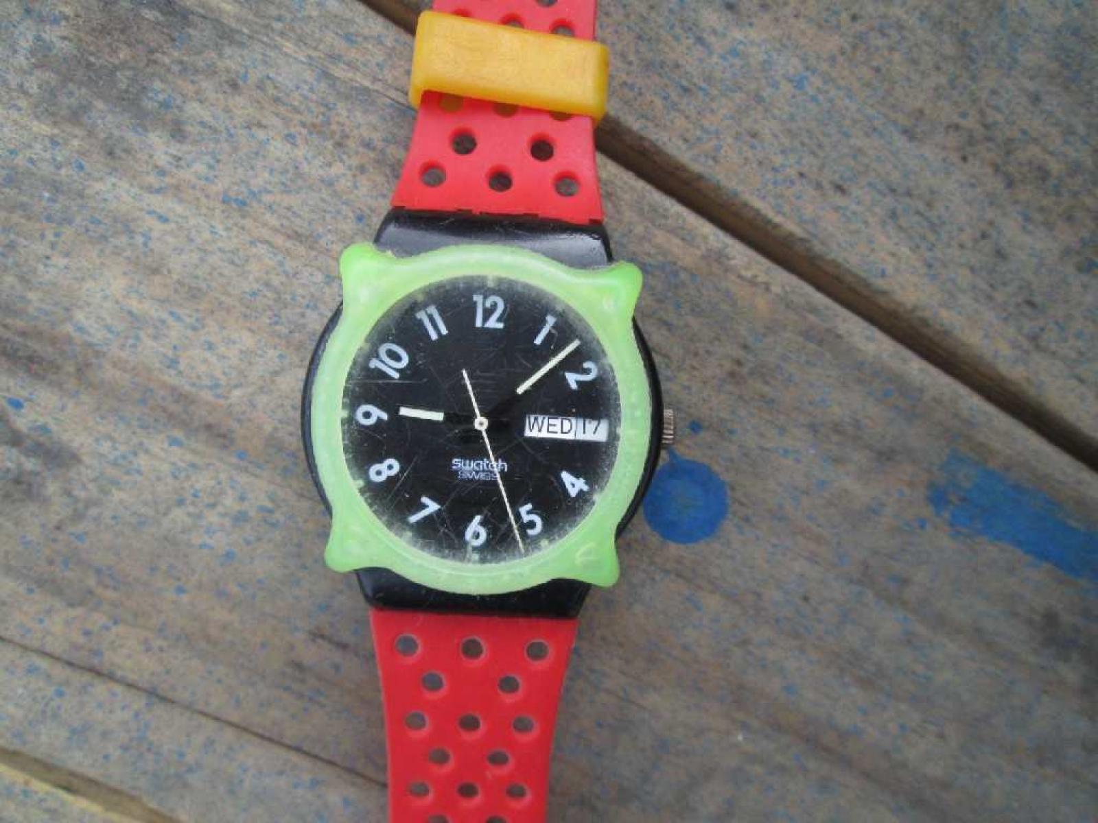 Swatch Original Irony Chrono Watch Strap Aycs Jam Tangan 100  Suts401 Sistem Blue Black Ampamp S Vintage Perforated Red Band Green Guard Day Date