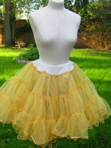 sunny yellow vintage crinoline