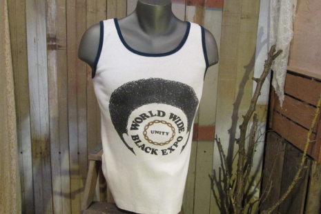 Vintage 70s Afro World Wide Black Expo  T shirt