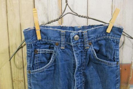 Big E Levis Denim vintage jeans  kids 60s childrens blue cotton pants