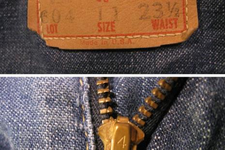 childrens Big E Levis Denim vintage jeans  kids 60s blue cotton pants