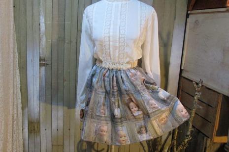 Creepy mini skirt of vintage babydolls