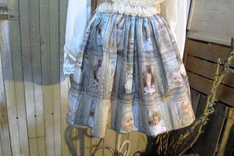 handmade spooky babydolls short full skirt