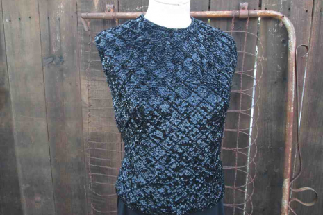 60s Black Vintage Sequin Beaded Sweater funkomavintage