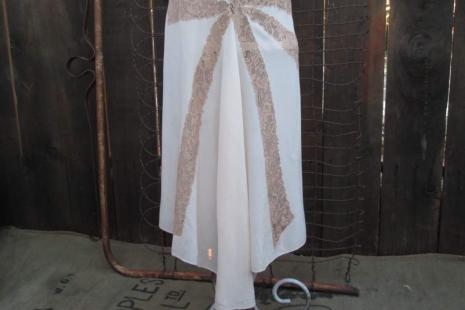 Vintage Peach Silk 30s Nightgown Asymmetrical hem