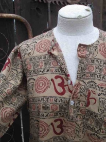 OM Kameez Made in India vintage tunic top Mandala sanskrit designs