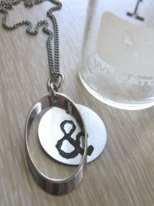 ampersand assemblage charm necklace